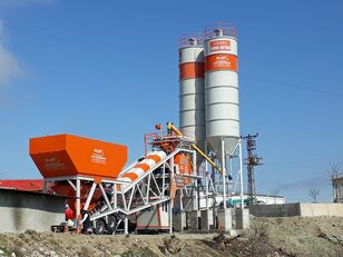 Plusmix 100 m³/hour Mobile Concrete Batching Plant - BETONYY ZAVOD - CEN planta de hormigón nueva